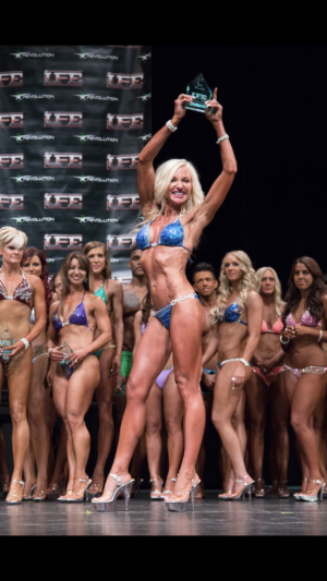 Kimberly's first competition - UFE Showdown 2014 - where she earned 1st place in Figure Fitness Model